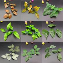 Leaves Rose Leaf Flower and Leaf Simulation Leaf Fake Leaves Raw Silk Leaves Artificial Flower Accessories Green Leaf Bouquet