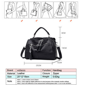Image 5 - Fashion Leather Handbags Women Bags Designer Shoulder Crossbody Handbag Women Large Capacity Tote Messenger Bag Bolsa Sac A Main