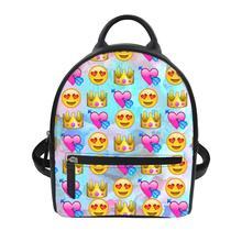 Cute smiley Print backpacks women bag large capacity women backpack school bag for teenage girls light ladies travel backpack