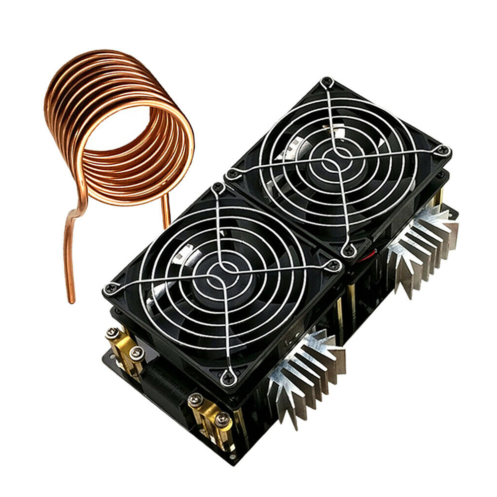 PCB With Coil Low Voltage Module Induction Heating Board DIY ZVS 12-48V DC Flyback 2000W Woodworking Heater High Power 50A
