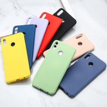 Colorful Ultra Thin Soft Liquid Silicone Phone Case For Huawei Y7 Y6 Y5 Prime Pro Y9 2019 2018 Y7A Slim Back Cover