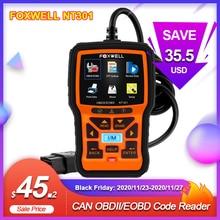 FOXWELL NT301 OBD2 Scanner Berufs EOBD OBDII Code Reader Motor Überprüfen ODB2 OBD 2 Automotive Scanner Auto Diagnose Werkzeug