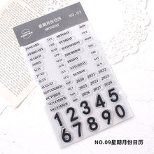English alphabet number Clear Stamps Seals for DIY Scrapbooking Craft Stencil Making Photo Album Paper Card Template Decoration
