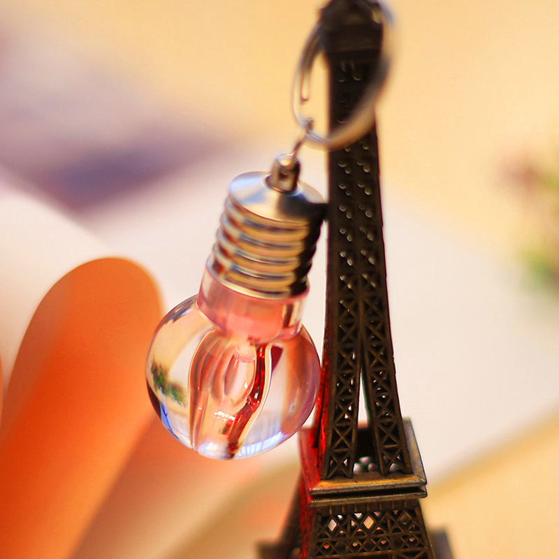 LED Bulb Keychain Pendant Mini Bulbtorch Keyring Flash Light Lamp PAK55
