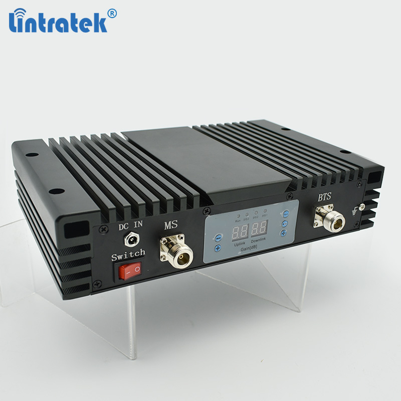 Lintratek 90dB GSM Repeater 900Mhz Celular Signal Booster 2G Mobile Signal Amplifier AGC MGC 33dBm 90dB Powerful GSM Repeater