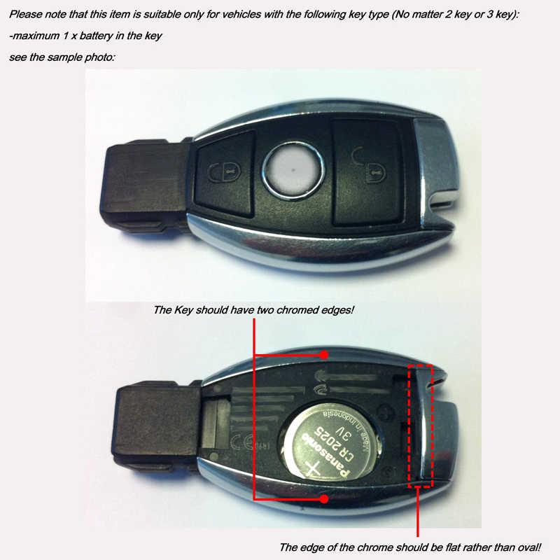 Xe Ô Tô Huy Hiệu Nắp Sau Vỏ Chìa Khóa Dành Cho Xe Mercedes Benz Cây Táo Tháng 5 Bạch AMG Brabus CLA/GLA/GLC /GLe W204 W212 W220 W205 Chìa Khóa