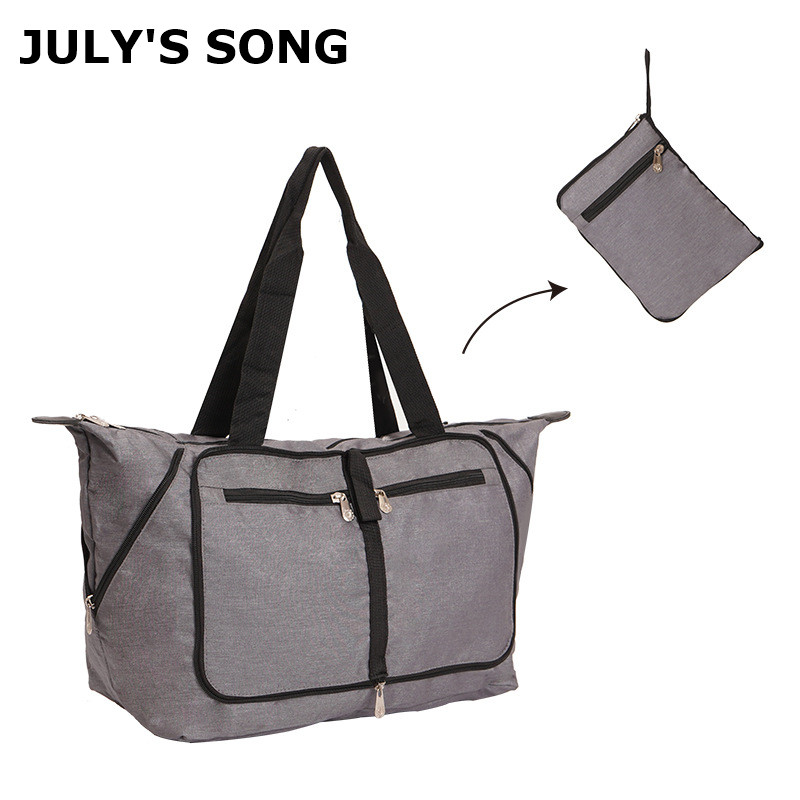 JULY'S SONG Foldable Travel Bags Waterproof Shoulder Bag Storage Bag Folding Travel Bag Large Capacity Packing Handbags