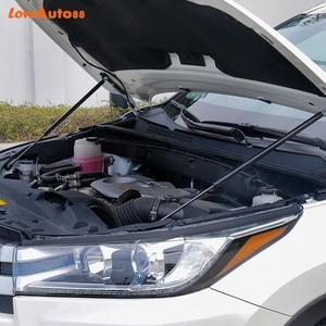 Image 2 - カースタイリング2個フロントフードエンジンカバー油圧ロッドストラットスプリングバーシュコダオクタためのA7 A4 A5 2014 2019 2020