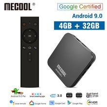 MECOOL KM9 PRO Android 9 0 TV Box Amlogic S905X2 4G DDR4 32G ROM 4K Google Certified Android 9 ATV Smart TV Box Voice Control cheap 100M Amlogic S905 Quad-core 64-bit 32GB eMMC HDMI 2 0 Mail-G31 MP2 GPU 4 gb DDR4 KM9 PRO Android 9 0 Smart TV Box 400g DC 5V 2A