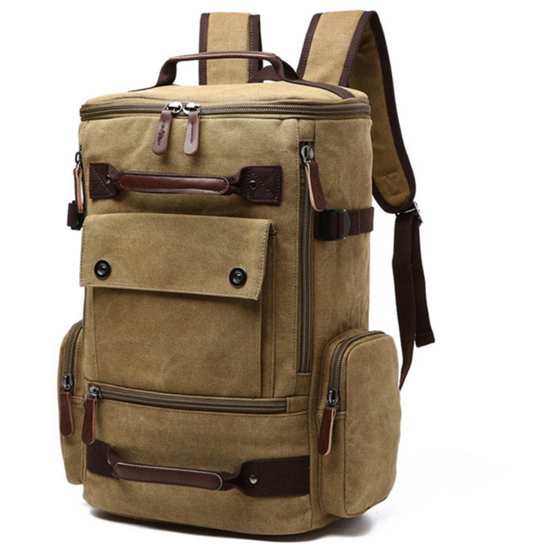 Men Laptop <font><b>Backpack</b></font> Canvas School Bag Travel <font><b>Backpacks</b></font> Notebook Bagpack Knapsack Bags New A66 image