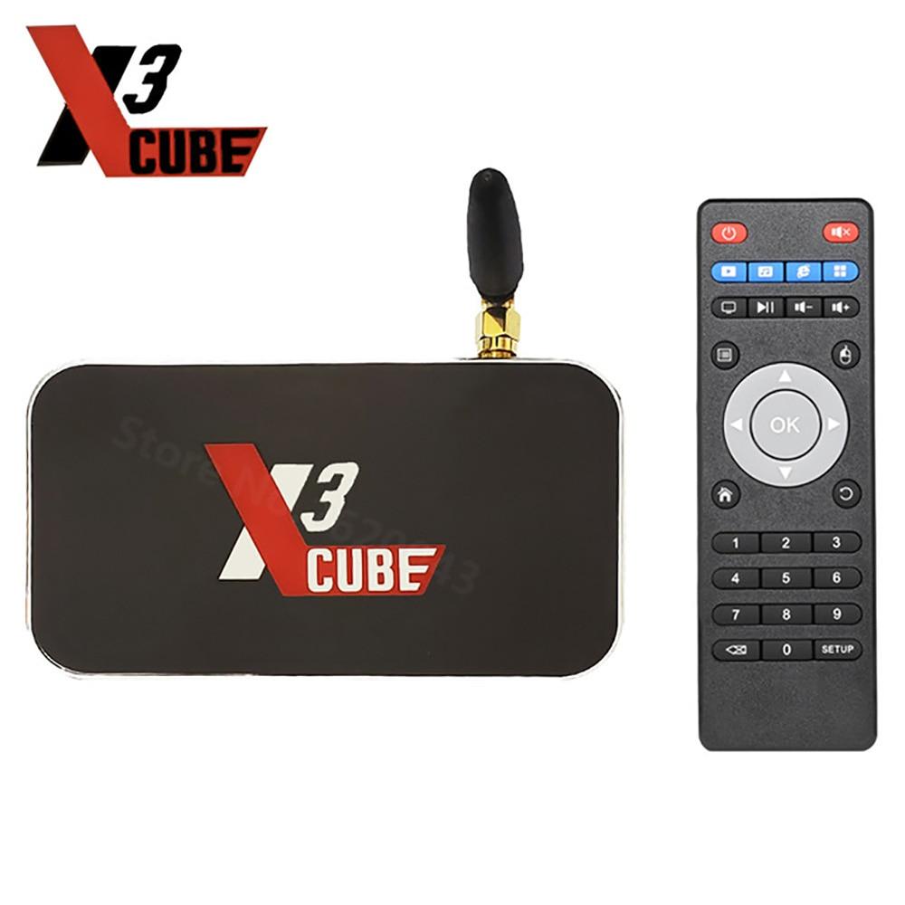 UGOOS X3 CUBE Amlogic S905X3 Android 9.0 TV Box 4GB DDR4 16GB Set Top Box 2.4G 5G WiFi Bluetooth 4K Media Player PK X2 CUBE