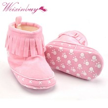 Winter Toddler Snow Boots Infant Shoes Baby Boy Girls Shoes Crib Shoes 0-18M 20 Colors(China)