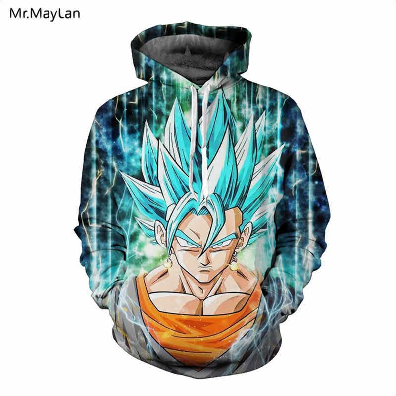 Hipster anime dragon ball dbz super irritado goku impressão 3d jaqueta hoodies outono masculino/feminino chapéu vermelho moletom moletom roupas meninos casaco