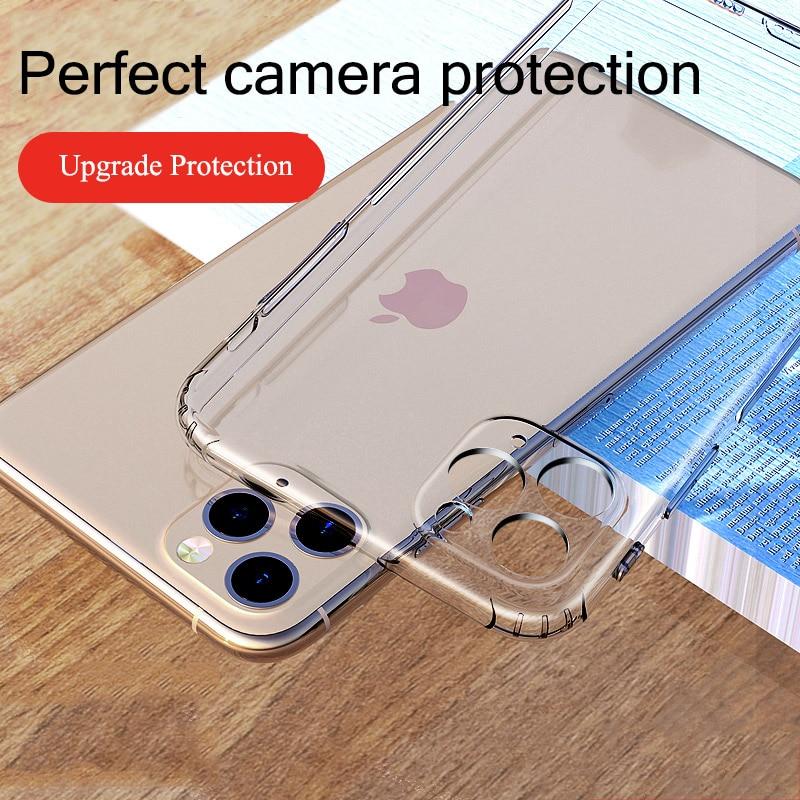 Тонкий прозрачный чехол для телефона iphone 11 pro max 11 Pro, прозрачный чехол для iPhone X XS MAX XR 7 8 Plus se 2 2020 11|Специальные чехлы|   | АлиЭкспресс