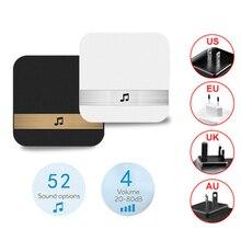 1Pcs AC90-250V Smart Indoor Doorbell chime Wireless WiFi Door Bell US EU UK AU Plug app control For EKEN V5 V6 V7 M3
