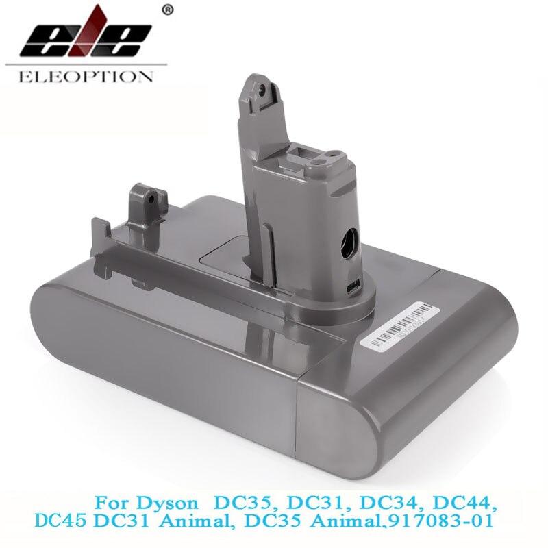 Batterie aspirateur Li-ion 22.2V 3000mAh (uniquement adaptée au Type B) pour Dyson DC35, DC45 DC31, DC34, DC44, DC31 Animal, DC35 Animal et 2.5Ah