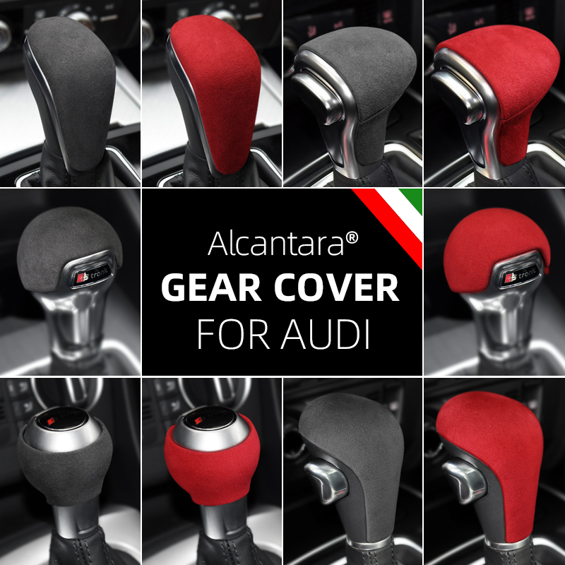 Alcantara Suede Wikkelen Abs Pookknop Cover Voor Audi A3 A4l A5 A6 A6L A7 Q5 Q5L Q7 S6 s7 Q2L Tt Ttrs RSQ3 RS3 RS4 RS5 RS6