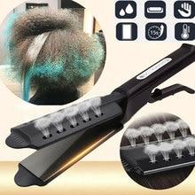 цена на Hair Straightener Four-Gear Adjustable Temperature Ceramic Tourmaline Iron Steam Hair Straightener Women Widen Panel Hair Curler