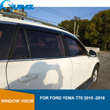 Auto Window Deflector Vizier Voor Ford Yema T70 2015 2016 2017 2018 Winodow Vizier Vent Shades Zon Regen Deflector Guard sunz