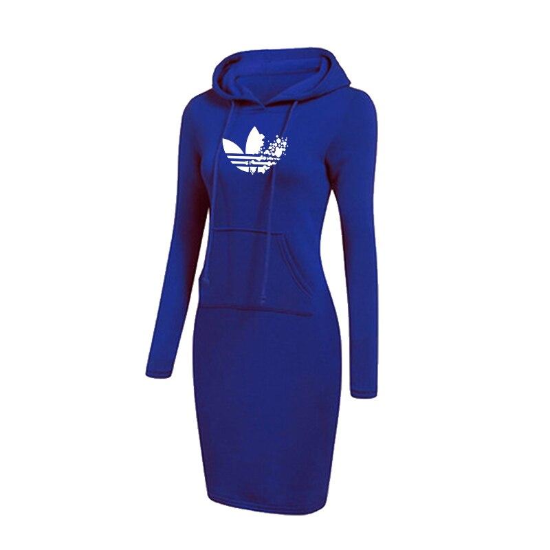 New Women Hoodie Dress Long Sleeve Warm Printed Hoodie Casual Sweatshirt for Women in Hoodies amp Sweatshirts from Women 39 s Clothing