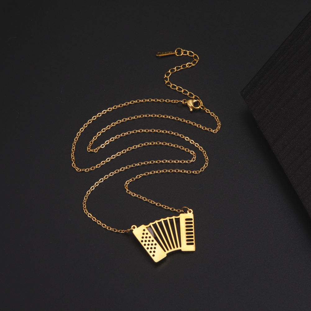 My Shape Accordion Necklace Stainless Steel Pendant