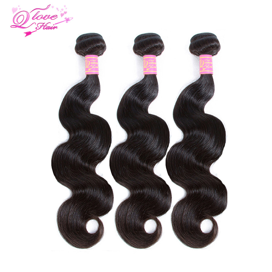 Queen Love Hair Body Wave Human Hair Bundles 8-30 Inches Brazilian Hair Weave Bundles Remy Hair Extensions 1/3/4 Pieces