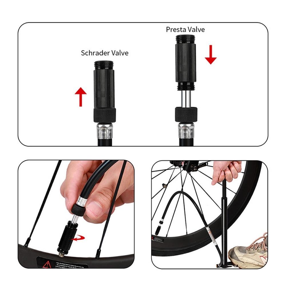 Велосипедный насос высокого давления ручной мини с манометром