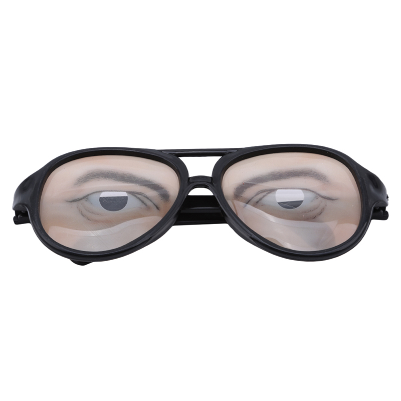 2/3d Performance Props Men And Women Funny Glasses Christmas April Fools Day Whole Person Toys Plastic