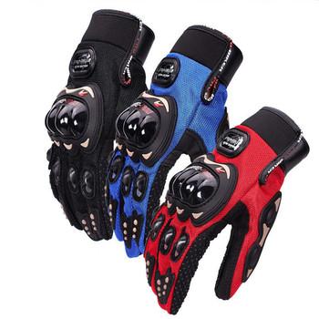 Guantes moto mężczyźni kobiety moto rcycle rękawice outdoor sport rękawice jazda wyścigi motocyklowe ochronny sprzęt kolarstwo rowerowe rękawice rowerowe tanie i dobre opinie superbmotors Z pełnym palcem Poliestru i nylonu Unisex Black Red Blue M L XL XXL China