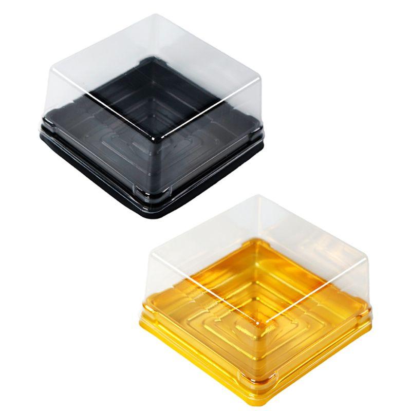 50 Pcs Mini Square Moon Cake Container Wedding Party Favor Boxes 50g Mooncake Dessert Box