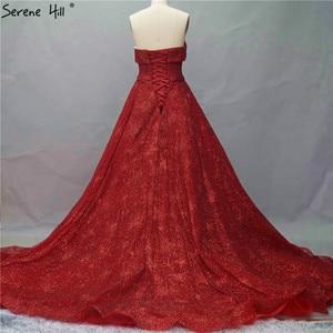 Image 3 - אדום חרוזים high end מתוק יוקרה Sparkle ערב שמלות דובאי כבוי כתף סקסי ערב שמלות 2020 Serene היל HM66578