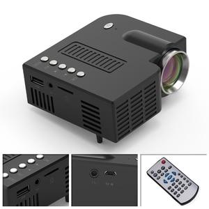 Image 4 - חדש UNIC 28C LED מיני מקרן נייד 1080p מלא HD מקרן בידור קולנוע ביתי מקרנים USB/SD/AV קלט