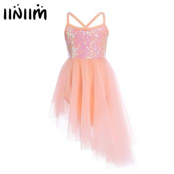 iiniim Hot Kids Girls Sequins Professional Ballet Dancewear Tutu Dress Gymnastics Leotard for Lyrical Dance Costumes - discount item  32% OFF Stage & Dance Wear