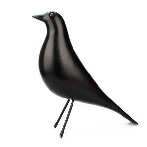 Resin Craft Pigeon Bird Figurine Statue Office Ornaments Sculpture Home Decoration Accessories Black White Bird Sculpture(China)