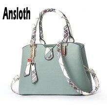 Ansloth PU Leather Handbag Women Large Capacity Shoulder Bag Ladies Elegant Handle Bag Female Tote Bag And Crossbody Bag HPS674