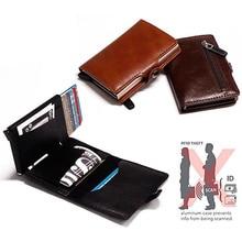 Metal Wallet Business-Card-Holder Credit-Card Travel Aluminium-Box Rfid Blocking Automatic