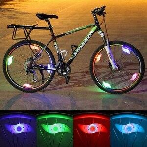 Luz da bicicleta falou led luz da bicicleta à prova dwaterproof água ciclismo acessórios da bicicleta lâmpada led luzes de segurança luz advertência com bateria
