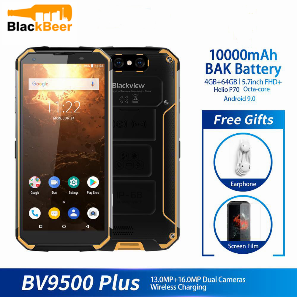 Blackview BV9500 Plus 5.7 Inch 18:9 Smartphone Octa Core 4+64GB MobilePhone IP68 Waterproof Android Cellphone 12V2A Quick Charge