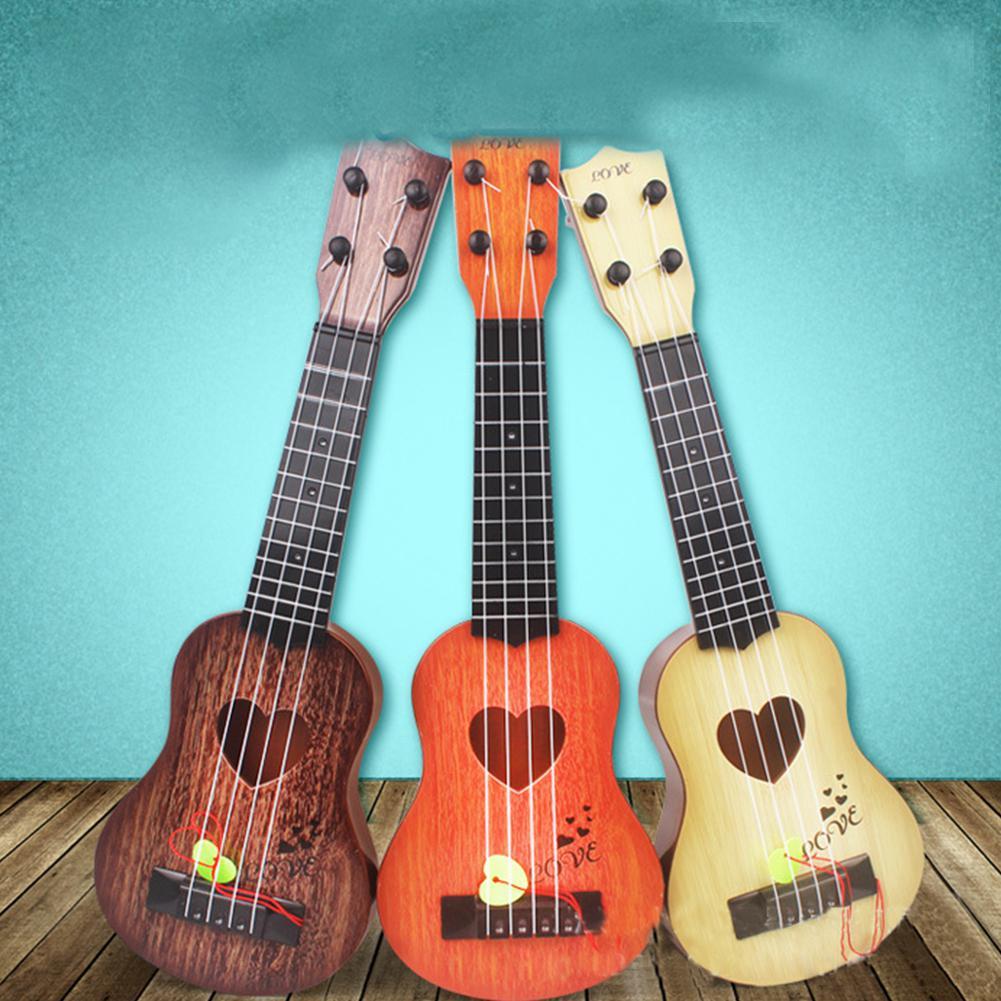 Hobbylane 4 Strings Children Simulation Playable Ukulele Guitar Educational Music Instruments Toy Gifts For Beginners