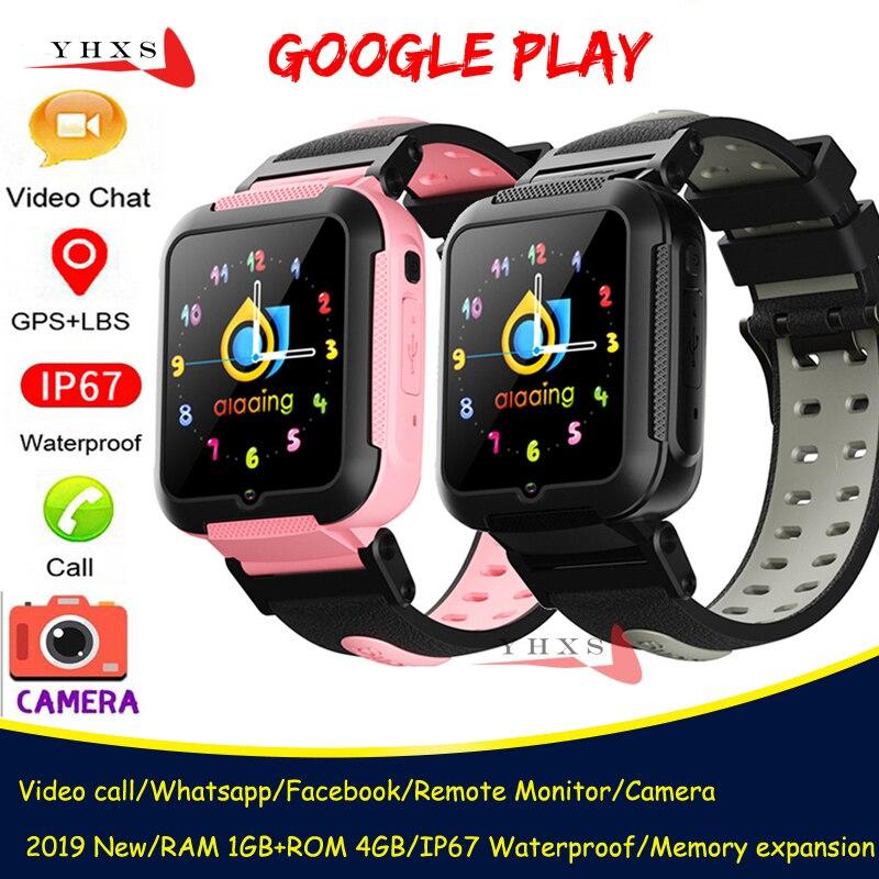 Inteligente 4g gps crianças estudantes bluetooth música câmera relógio de pulso monitor chamada vídeo localização rastreador google play android telefone relógio