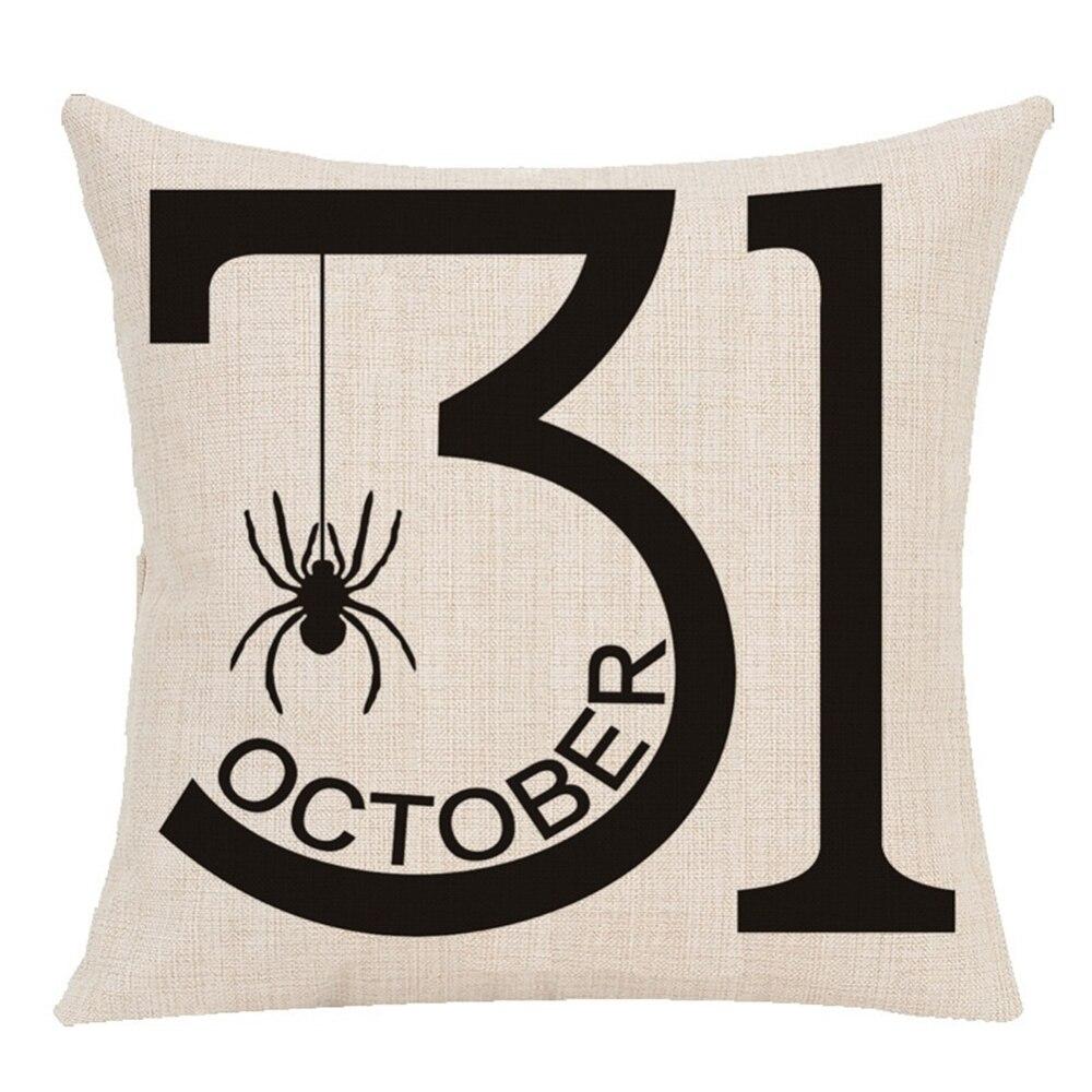 4 Pcs Trick Or Treat Pillow Cover Decorative Pillow Case Sofa Cushion Cover