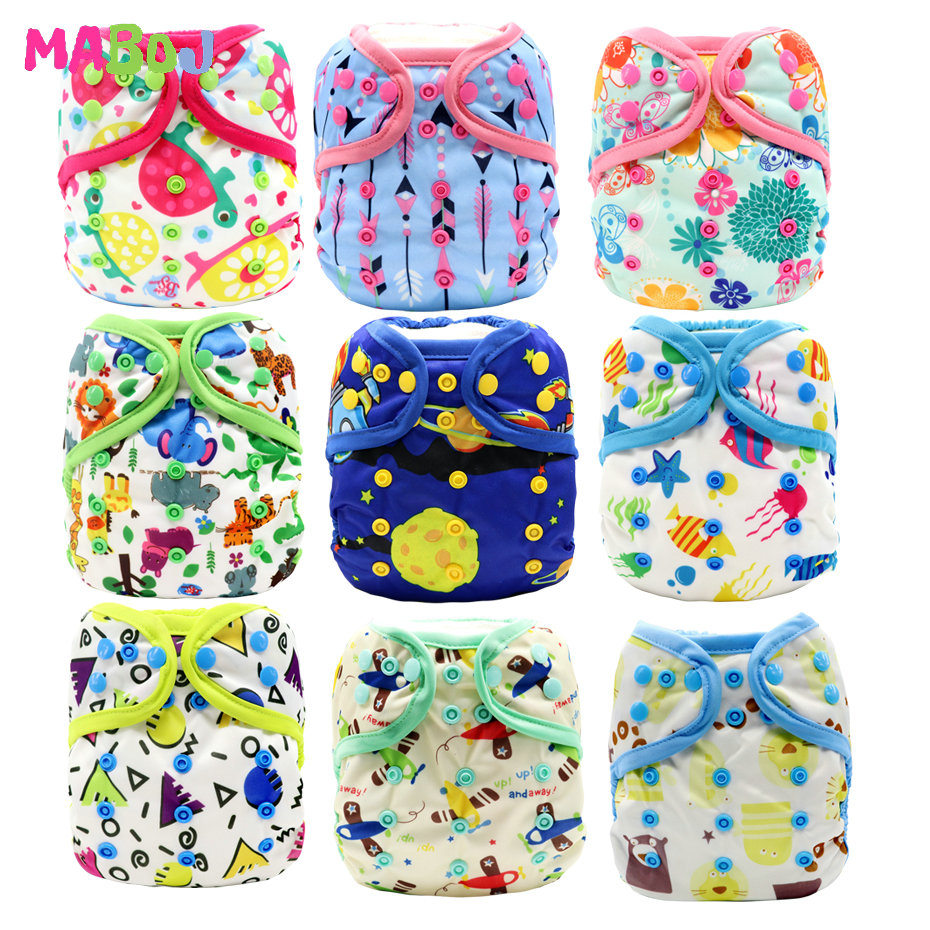 MABOJ Diaper Cover Baby Washable Reusable Cloth Pocket Nappy Diapers One Size Waterproof Newborn Bebe Traning Panties Boy Gril