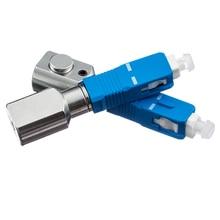 5pcs/lot SC Round Bare Fiber Adapter Connector SC Flange Coupler Optical Fiber Test Temporary,SC Round Bared Fiber Adapter bared blade