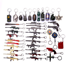 2019 Hot Game PUBG CS GO Weapon Keychains AWM VSS AK47 Gun Model 98K Sniper Rifle Key Chain Ring for Men Gifts Souvenirs 12CM
