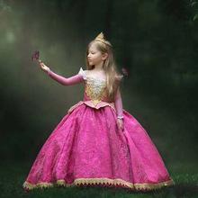 Dziewczyny Aurora sukienka śpiąca królewna księżniczka sukienka Halloween Cosplay kostium na boże narodzenie strona element ubioru ubrania urodziny prezent tanie tanio COTTON Poliester Koronki CN (pochodzenie) Kostek Shoulderless REGULAR Pełna Nowość Pasuje prawda na wymiar weź swój normalny rozmiar