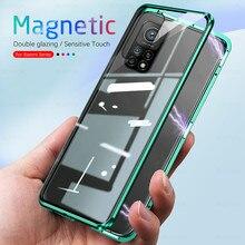 360 תואר מלא הגנת מתכת מגנטי עטיפות לxiaomi mi10t mi 10 t 10 t פרו 5g מקרה דו צדדי מזג זכוכית coque