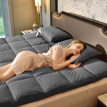 VESCOVO мягкий массажный наматрасник гусиный пух матрац коврик для одного двойной Полный queen king size Кровать