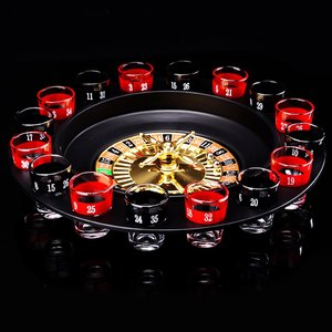 Image 3 - ABKT Novelty  Drink Turntable Toys Russian Roulette Wheel 16 Wine Cups Bar KTV Night Party Entertainment