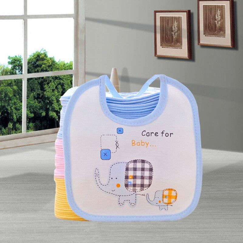 Infants Cotton Bib Elephant Yin Hua Kuan Baby Bibs Newborns Lace-up Soft Waterproof Bib