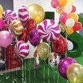 50Pcs Rosa Donuts Candy Folie Ballons Lollipop Baby Dusche Glücklich Geburtstag Party Dekorationen Aufblasbare Helium Süße Kinder Spielzeug